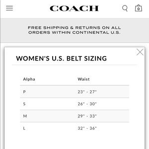 Coach Accessories - Coach Leather Wide Belt White / Ivory
